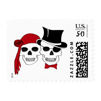 pirate couple postage