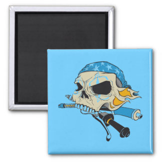 Pirate Cr�ne - 2 Inch Square Magnet
