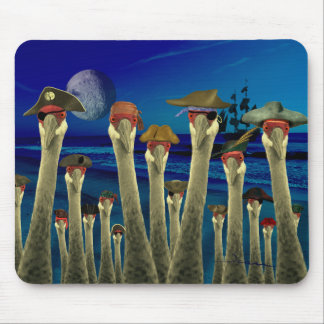 Pirate Cranes Mouse Pad