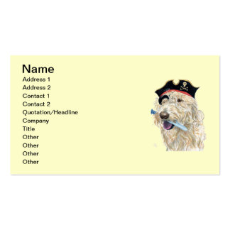Pirate Cream Labradoodle Double-Sided Standard Business Cards (Pack Of 100)