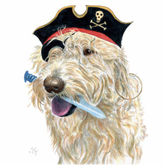 Pirate Cream Labradoodle Standing Photo Sculpture