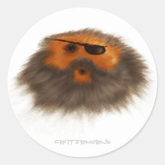 Pirate Critter Classic Round Sticker
