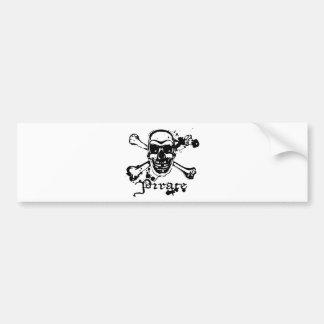 Pirate Cross Bones Bumper Sticker