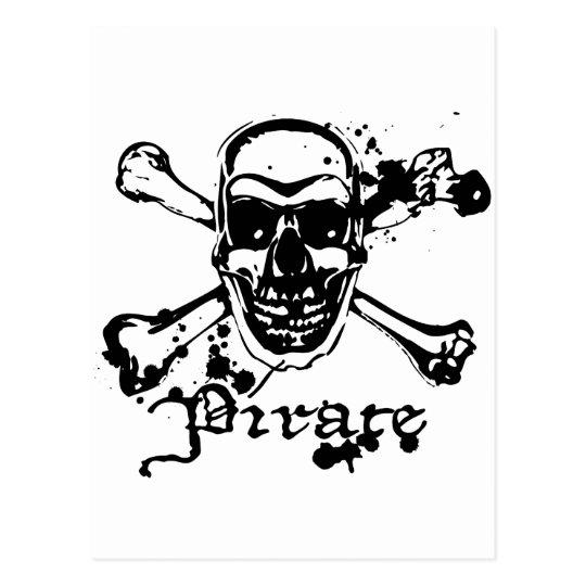 Pirate Cross Bones Postcard