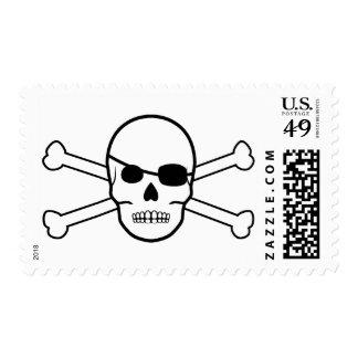 pirate crossbones postage