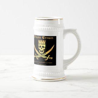 Pirate Crown logo stein Coffee Mugs