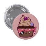 Pirate Cupcake 1 Inch Round Button