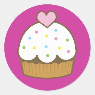 pirate cupcake classic round sticker