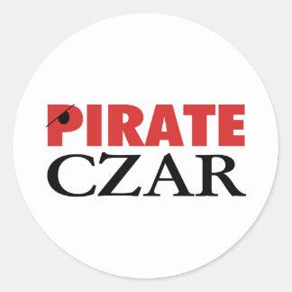 Pirate Czar Classic Round Sticker