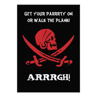 Pirate Day Get Your Party On Invitation