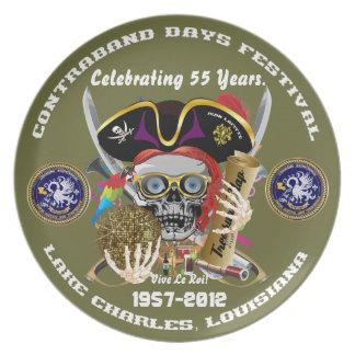 Pirate Days Commemorative Plate 30 Colors