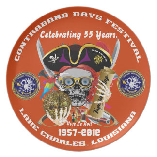 Pirate Days Commemorative Plate 30 Colors