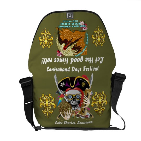 Pirate Days Dual Logo Bicentennial  Pls View Notes Messenger Bag