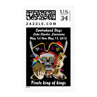 Pirate Days Lake Charles, Changes Date View Notes Postage Stamps