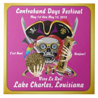 Pirate Days Lake Charles, Louisiana. 30 Colors Ceramic Tile
