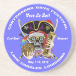 Pirate Days Lake Charles, Louisiana. 30 Colors Beverage Coasters