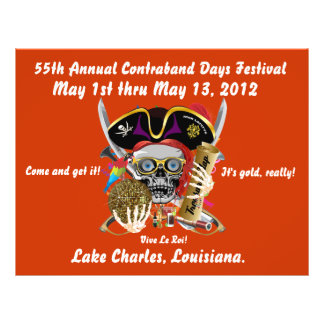 Pirate Days Lake Charles, Louisiana. 30 Colors Flyers