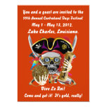 Pirate Days Lake Charles, Louisiana. 30 Colors 6.5x8.75 Paper Invitation Card