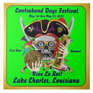 Pirate Days Lake Charles, Louisiana. 30 Colors Tile