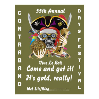 Pirate Days Lake Charles, Louisiana. 50 Colors Full Color Flyer