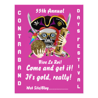 Pirate Days Lake Charles, Louisiana. 50 Colors Flyer