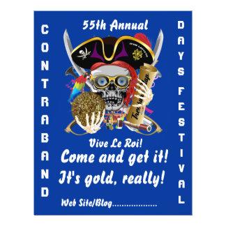 Pirate Days Lake Charles, Louisiana. 50 Colors Custom Flyer