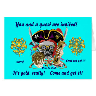 """Pirate Days Louisiana. 7"""" x 5"""" 30 Colors View Note Card"""