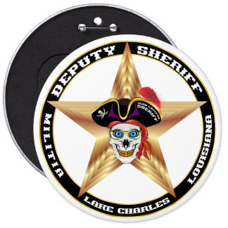 Pirate Deputy Sheriff  IMPORTANT Read About Design Pinback Buttons