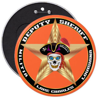Pirate Deputy Sheriff  IMPORTANT Read About Design Pinback Button