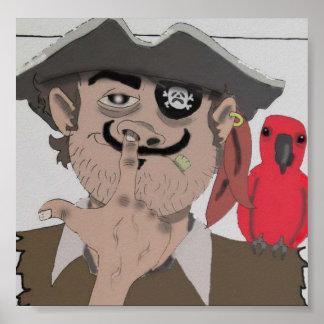 Pirate Digging Poster