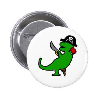Pirate Dinosaur 2 Inch Round Button