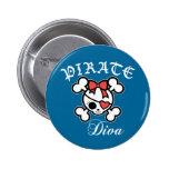 Pirate Diva Pins
