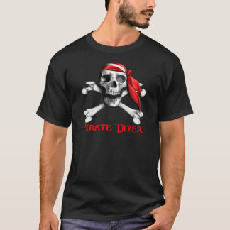 Pirate Diver  Destroyed T-Shirt
