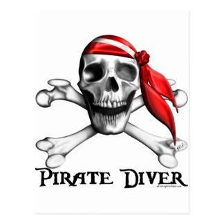 Pirate Diver Postcard