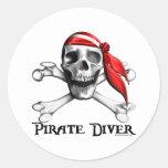 Pirate Diver Sticker