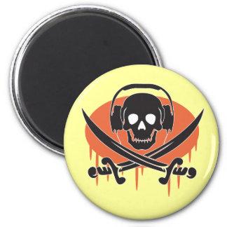 Pirate DJ 2 Inch Round Magnet