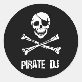 Pirate DJ Classic Round Sticker