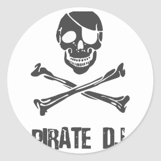 Pirate DJ - Disc Jockey Music Theif Stickers