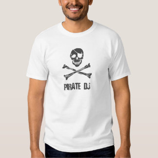Pirate DJ - Disc Jockey Music Theif T-Shirt