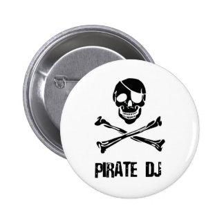 Pirate DJ Pinback Button