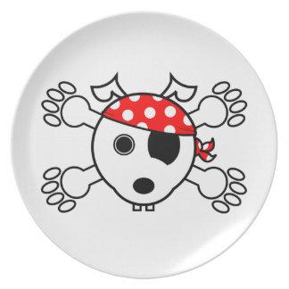 Pirate Dog Dinner Plate
