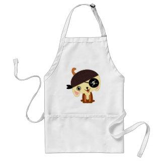 pirate dog kawaii adult apron