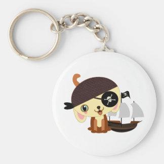 pirate dog kawaii keychain
