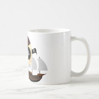 pirate dog kawaii classic white coffee mug