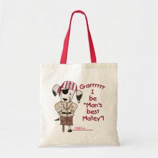 "Pirate Dog ""Mans Best Matey! Tote Bag"