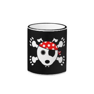 Pirate Dog Ringer Mug