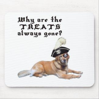 Pirate Dog Treats Mouse Pad
