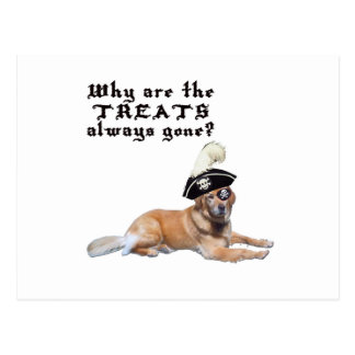 Pirate Dog Treats Postcard