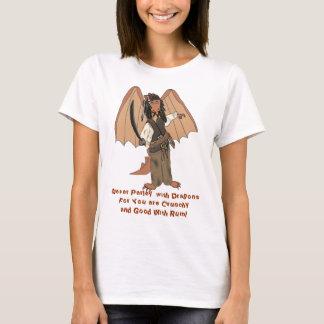 Pirate Dragon Ladies Baby Doll T-Shirt