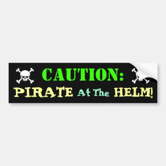 Pirate Driver Bumper Sticker